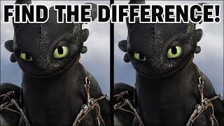 How To Train Your Dragon 3 Movie Puzzle | Find The Difference