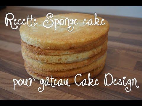 Recette Sponge cake pour gâteau Cake Design - Pâte à sucre / Recipe Sponge cake