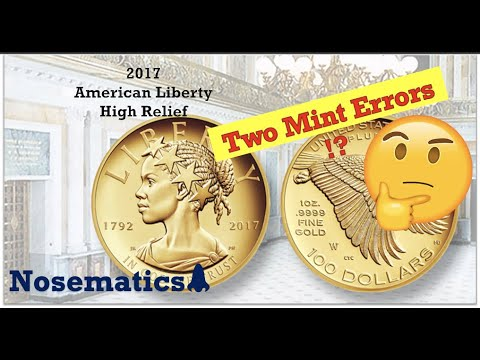 2017 American Liberty High Relief 1oz Gold Coin  **Mint Error Madness 2 Of 3**