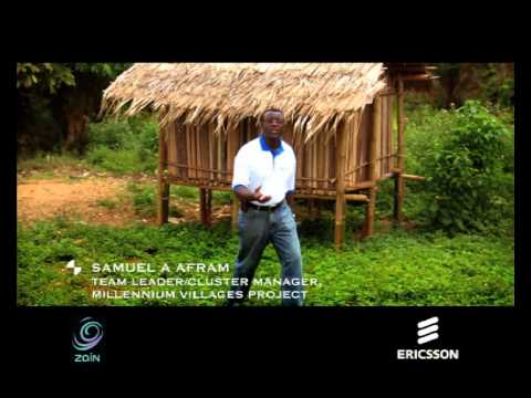 An Ericsson + Zain feature on the Bonsaaso, Ghana Millennium Villages