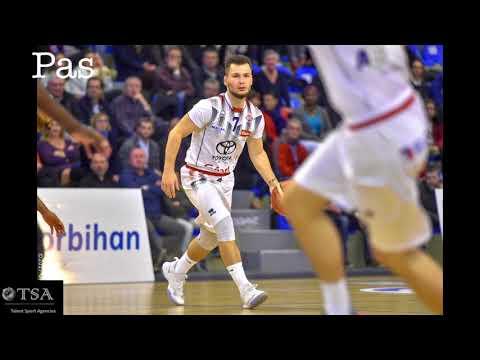 Eliot MARAUX Poste 1/2 (n° 7 BLANC) Lorient / St Quentin FFBB NM1 le 22.04.2018