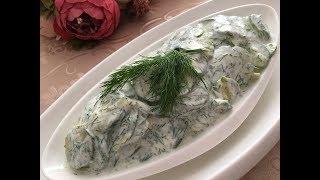 Sarımsaklı Kabak Salatası Tarifi