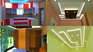 Modern 3BHK Duplex House false ceiling cupboard kitchen design 3d walkthrough interior design