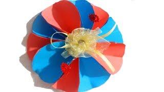 DIY Paper Flowers -  Origami Easy Paper Flower  - 3 Sisters Crafts