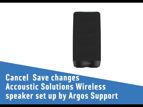 accoustic solutions wireless speaker set up by argos support youtube. Black Bedroom Furniture Sets. Home Design Ideas