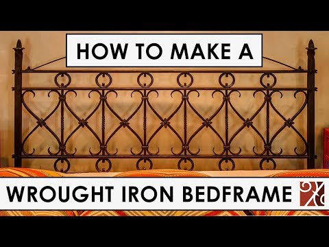 Santa Barbara Forge + Iron: Wrought Iron Bedframe