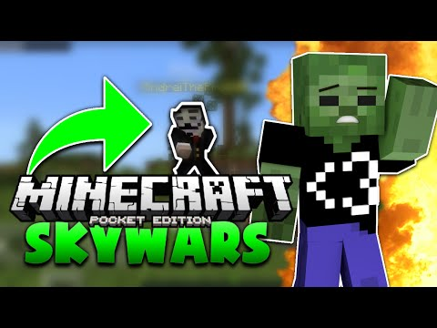 Minecraft PE Mineplex SKYWARS - FLY HACKERS (Mineplex PE 0.15.3 Server)