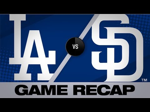 Buehler's 11 K's power Dodgers in 9-0 win | Dodgers-Padres Game Highlights 8/27/19