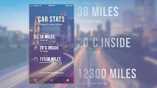 Sketch - Car Stats UI Design Timelapse