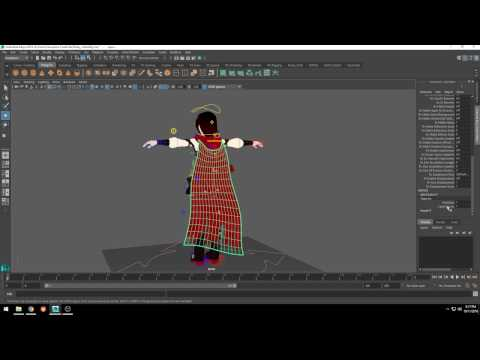 Rooster Teeth 'RWBY' Tutorial #1: Using Maya's Blend Shapes for a 'Breeze Effect'