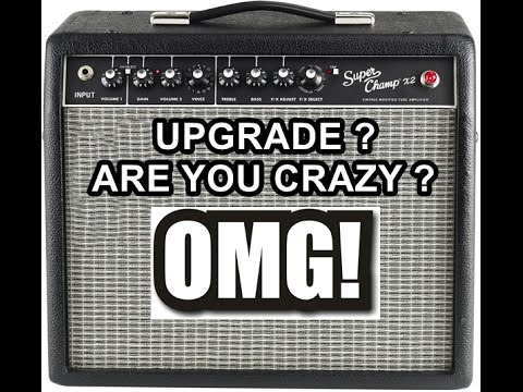 fender super champ x2 guitar amplifier how to upgrade ru serious youtube. Black Bedroom Furniture Sets. Home Design Ideas