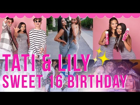 TATI AND LILY SWEET 16 VLOG! thumbnail