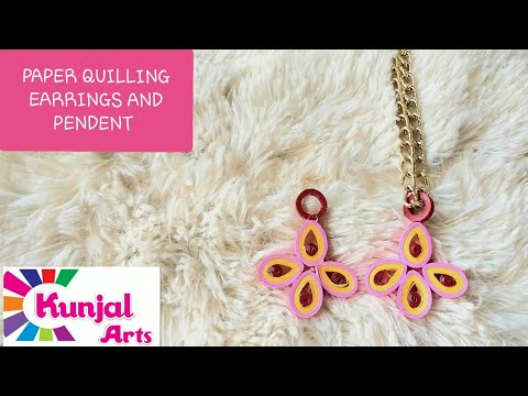SIMPLE DIY EASY TO MAKE PAPER QUILLING PENDANT/ QUILLING JEWELLERY/ ACCESSORIES / PAPER ART