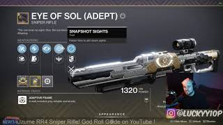 I GOT THE 5/5 GOD ROLL ADEPT EYE OF SOL! NOW WHAT?