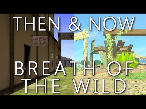 Then & Now Breath of The Wild - Ocarina of Time Locations