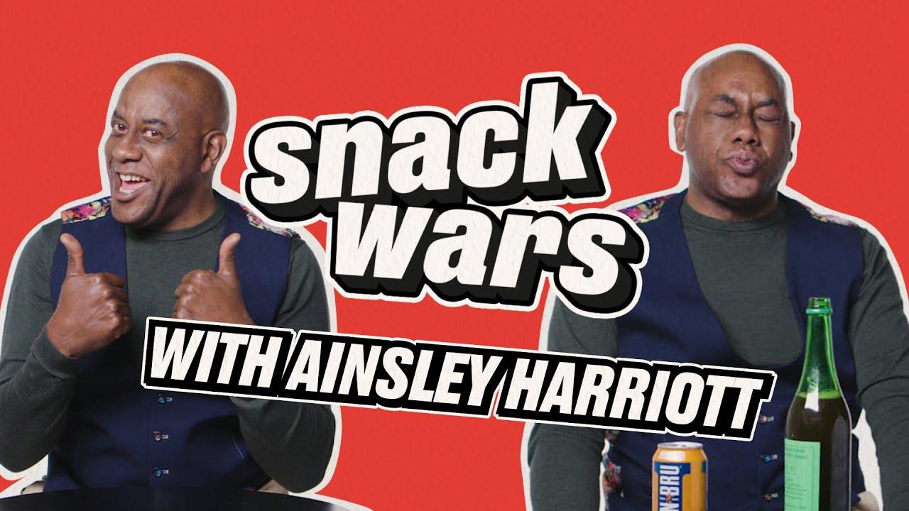 Ainsley Harriott Tries British And Jamaican Snacks | Snack Wars | LADbible TV