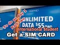 Getting a SIM card and Grocery shopping on Day 1 | International student in America