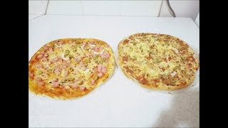 Тонкая пицца -  вкуснее  чем в пиццерии