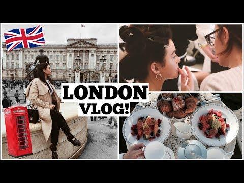 LONDON VLOG! Photoshoots, The Palace, & Tea time!