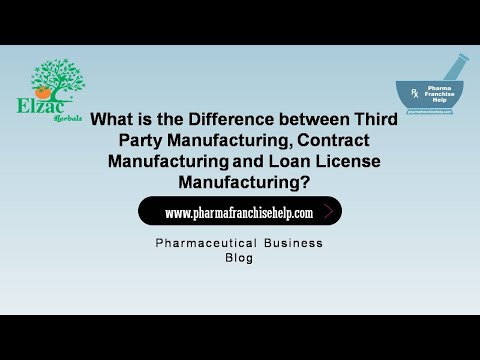 Difference between Third Party Manufacturing, Contract Manufacturing and Loan License Manufacturing?