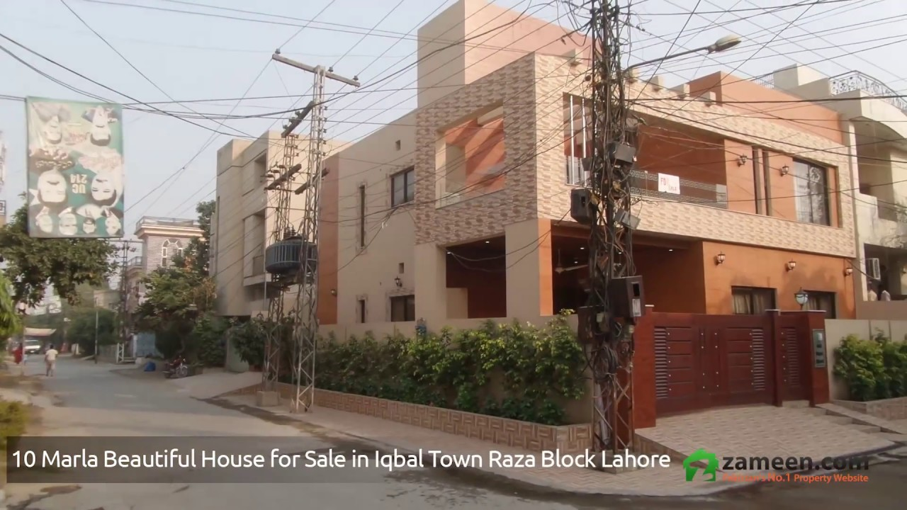 brand new corner house for sale in raza block allama iqbal town