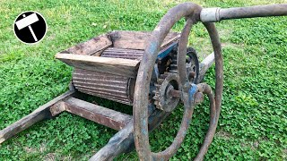 Antique and Broken Grape Crusher Restoration