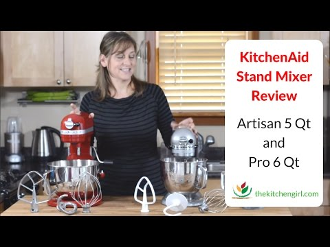 KitchenAid Stand Mixer Review 5 Qt Artisan and 6 Qt Pro 600 Features