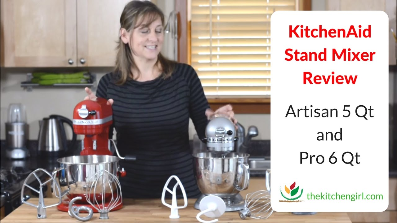 KitchenAid Stand Mixer Review 5 Qt Artisan and 6 Qt Pro 600 Features ...