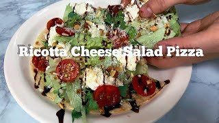 홈메이드 리코타 치즈로 만든 샐러드 피자! 건강한 피자…