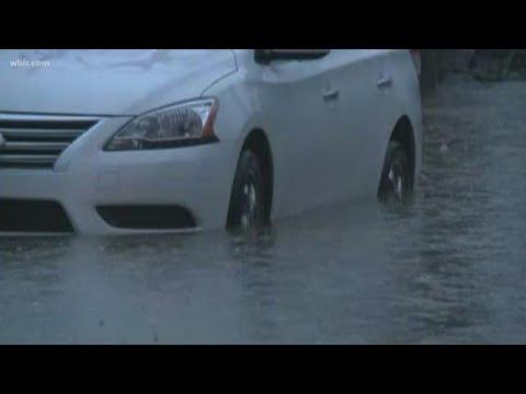 Sevier Co. crews close roads due to flooding