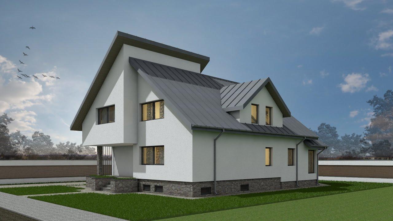 proiect casa cu demisol crissa d p m 4 camere
