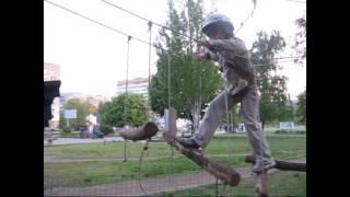 Прыжок в пропасть Веревочный детский парк на ж.м Победа преодолеваем препятствия
