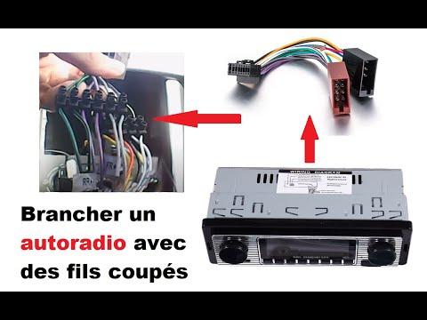 brancher un autoradio avec des fils coupes youtube