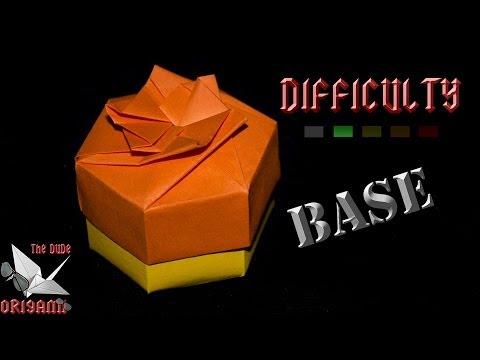 [ORIGAMI TUTORIAL] Easy Hexagonal Box (Base)    Decorations/Boxes