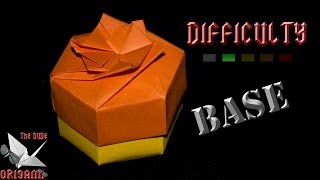 [ORIGAMI TUTORIAL] Easy Hexagonal Box (Base) || Decorations/Boxes