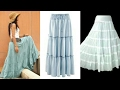 DIY Long flared skirt| how to make long flared skirt step by step tutorial
