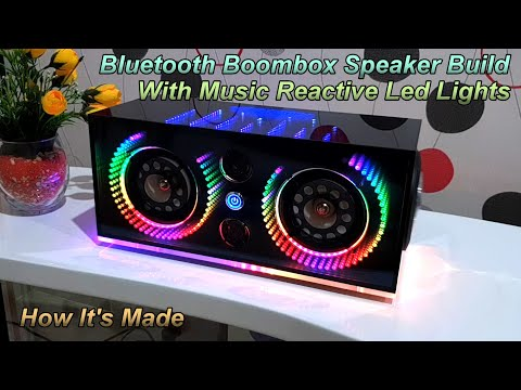 DIY Bluetooth Boombox Speaker With Music Reactive Led Light