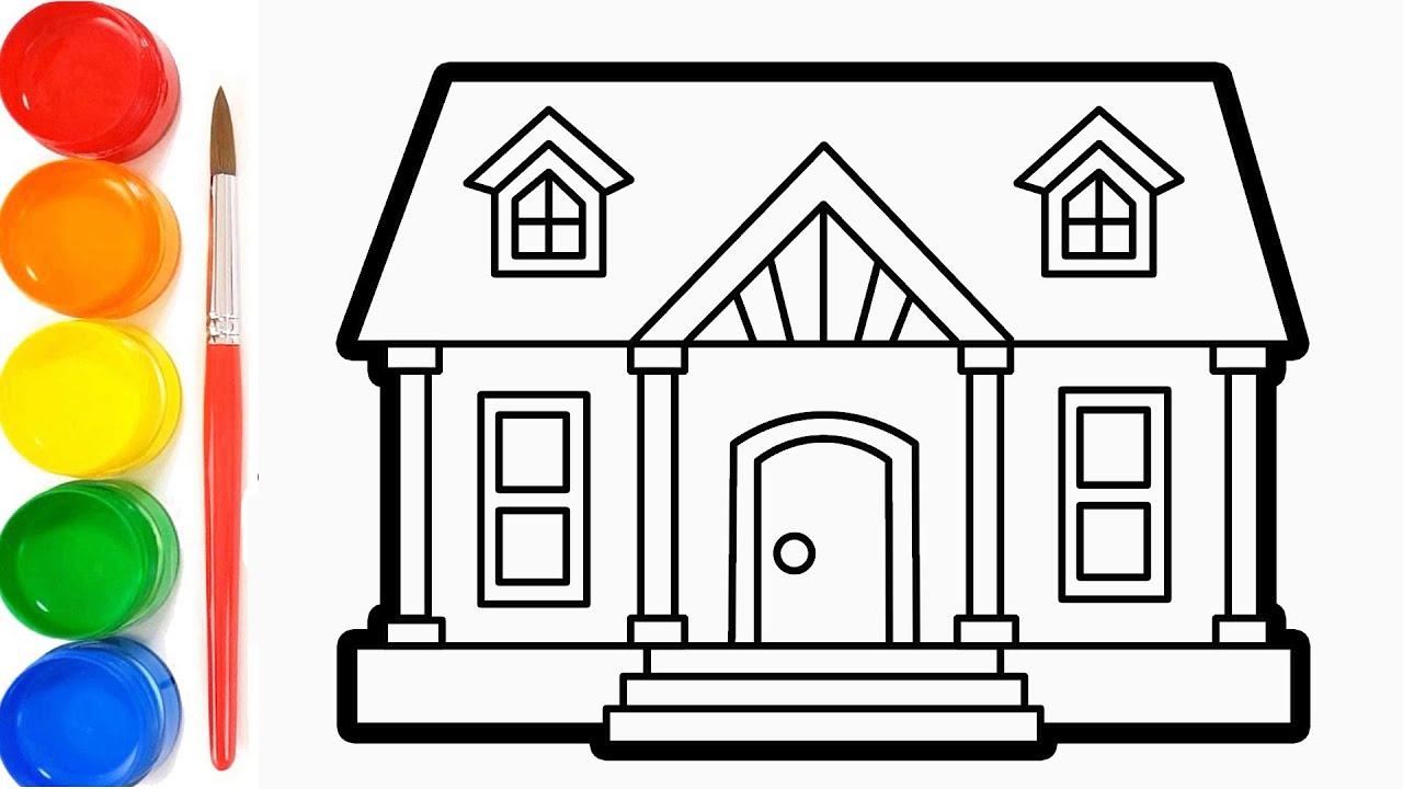 Cara Menggambar dan Mewarnai Rumah Bagus