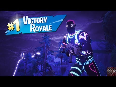 Getting A Victory Royale With The Liteshow Skin (Fortnite Battle Royale)