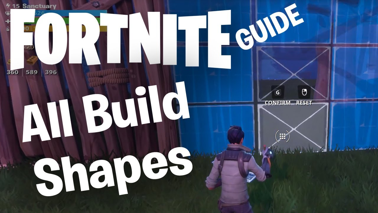 fortnite building guide all wall shapes staircases floors roof segment patterns - fortnite wall building patterns