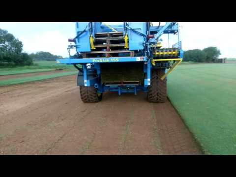 Harvesting TifTuf Bermuda Grass With The ProSlab 155 FireFly