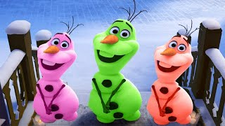 ᴴᴰ Learn Colors  with Olaf Funny Momment Videos