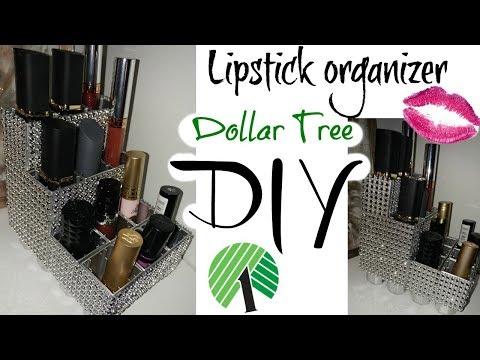 DOLLAR TREE DIY * LIPSTICK HOLDER/ORGANIZER