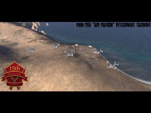 VMM-268 Detachment Training 15thMEU(SOC) Realism Unit ArmA3 Coop Gameplay