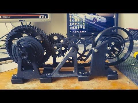3D Printerd Watch Escapement Desk Toy - часовой механизм