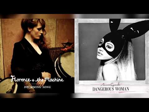 florence + the machine/ariana grande - drumming song/step on up (mashup)