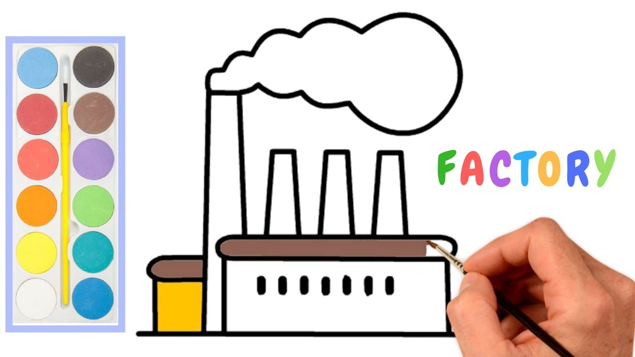 Factory drawing how to draw environment pollution step by step easy draw factory smoke drawing