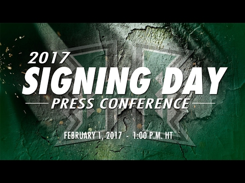 2017 Hawaii Football National Signing Day Press Conference - 2-1-2017