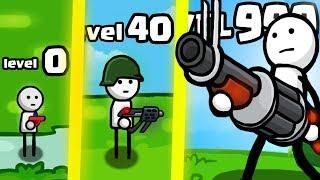 IS THIS THE HIGHEST LEVEL STRONGEST WEAPON GUN EVOLUTION? (9999+ STICKMAN LEVEL) l One Gun: Stickman