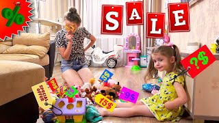 Eva and Mama decided to sell all the toys